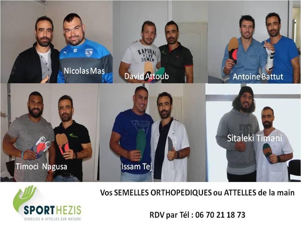 semelles sport Montpellier sportifs de haut niveau